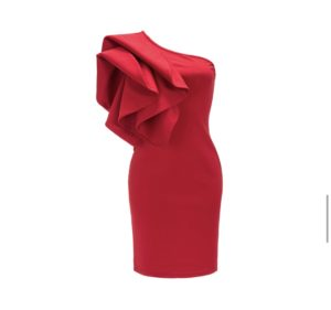 Amocouture-Rose Dress-red